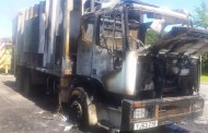 Bin lorry catches fire