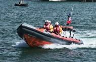 Fishguard: Lifeboat aids crew of capsized catamaran