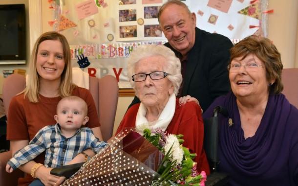 Milford Haven: Sing-a-long marks Louvain Thomas' 101st birthday