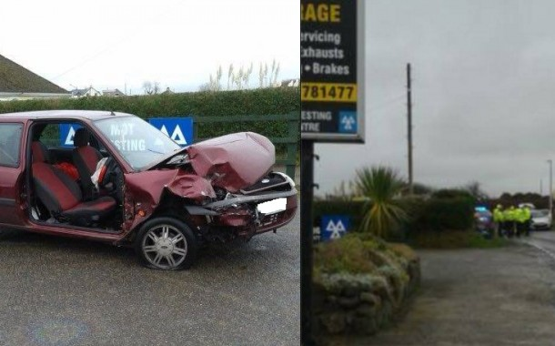 Broad Haven: Two in hospital after crash