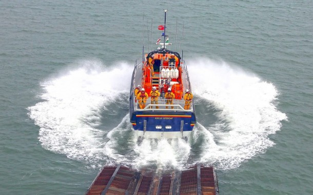 Yacht towed to safety by Angle RNLI lifeboat