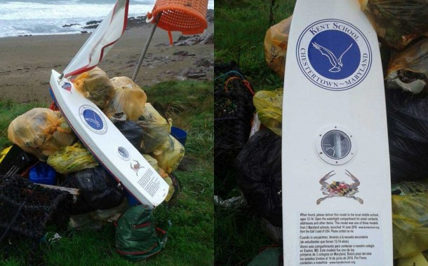 Manorbier: Time capsule from USA found at Swanlake Bay
