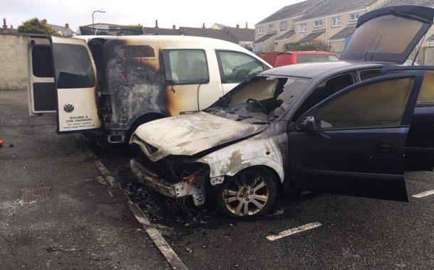 Broad Haven: Fire service extinguish car blaze